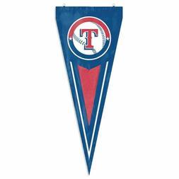 Texas Rangers Pennant Flag Nylon Wall Door Banner MLB Baseba
