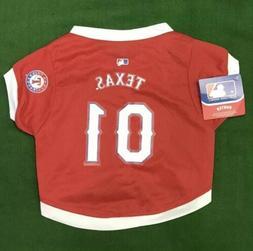 Texas Rangers Pet Gear Jersey Size Medium