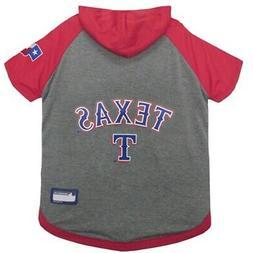 Texas Rangers Pet Hoodie T-Shirt - Large