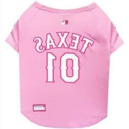 Texas Rangers Pink Pet Jersey