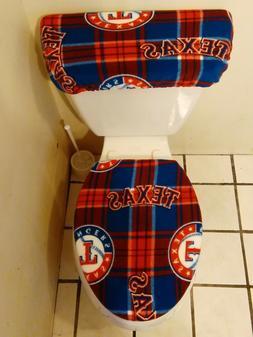 texas rangers plaid fleece toilet seat cover