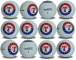 Texas Rangers Titleist ProV1 Refinished MLB Golf Balls 12 pa