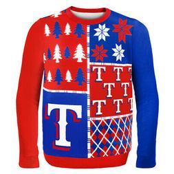 Texas Rangers MLB Ugly Sweater BusyBlock