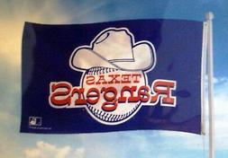 Texas Rangers RETRO Logo Rico 3x5 Flag w/Grommets Outdoor Ba