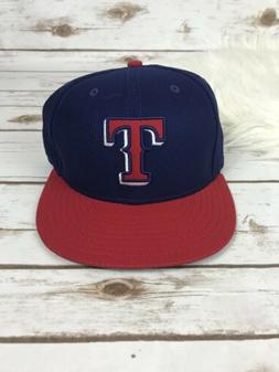 Texas Rangers New Era Royal Blue Fitted  Sz 7 Hat 59Fifty Re