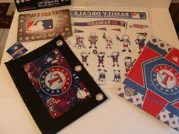 Texas Rangers school bundle: book cover, pencil pouch, decal
