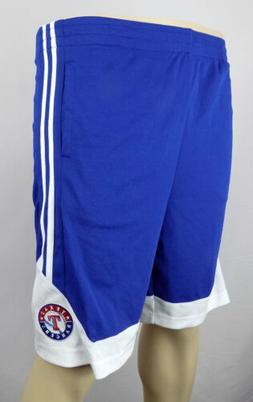 Texas Rangers Shorts Boys Medium 8 - 10 Blue Stitched Basket