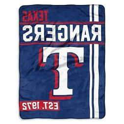 Texas Rangers Side Bar PLUSH Micro Raschel 46x60 Soft Throw