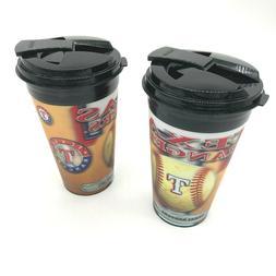 Texas Rangers Spirit Travel Cups by Brax  2 pack  MLB  3D An