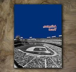 Texas Rangers Sports Poster MLB Art Print Rare Hot New 12x16