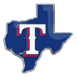 Texas Rangers State Metal Die Cut Auto Emblem Decal Sticker