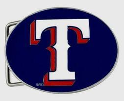 Texas Rangers Team Logo Belt Buckle  Licensed