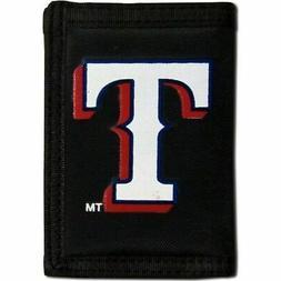 Texas Rangers Trifold Nylon Wallet MLB Licensed Baseball