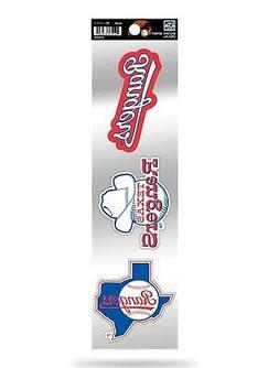 Texas Rangers Triple Retro Throwback Spirit Decals Sticker S