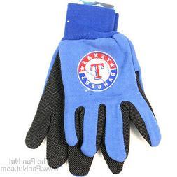 Texas Rangers Two-Tone Pair GRIP Gloves Sport Work Utility M