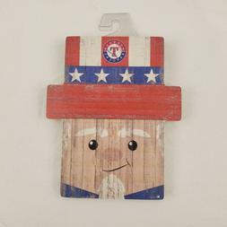 Texas Rangers Uncle Sam Baseball Wooden Sign Americana Patri