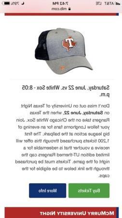 Texas Rangers UT University of Longhorns Cap Hat   NEW Speci