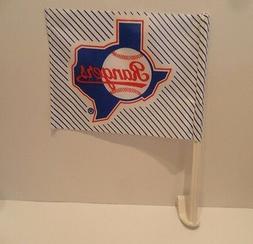 Texas Rangers Vintage Car Flag 1993 Logo - BRAND NEW! PLUS N