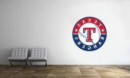 Texas Rangers Wall Decal MLB Baseball Decor Sport Art Mural