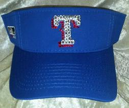 Texas Rangers Women's Visor Rhinestone Bling MLB  ~NEW~