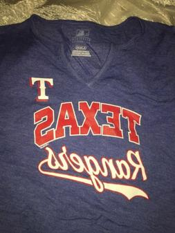 texas rangers womens v neck shirt mlb