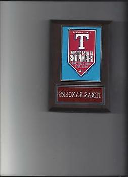 TEXAS RANGERS WORLD SERIES BANNER PLAQUE CHAMPIONS CHAMPS BA