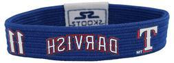 Skootz Texas Rangers Yu Darvish NBA Wristband Blue