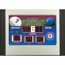 Texas Rangers Scoreboard Desk Clock
