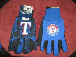 TWO  PAIR OF TEXAS RANGERS, SPORT UTILITY GLOVES FROM FOREVE