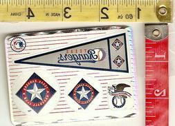 Vintage lot 6 Prismatic sticker sheets 1993 MLB Texas Ranger