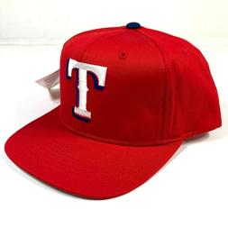 Vintage Texas Rangers Snapback Hat Cap Youth Kids Size Red W