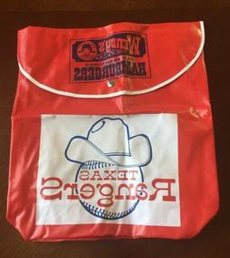 Vintage Texas Rangers Wendy's Backpack Stadium Giveaway SGA