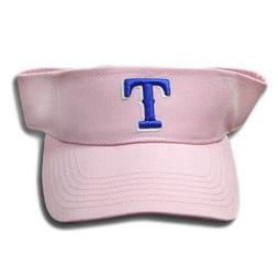 VISOR HAT MLB TEXAS RANGERS PINK COTTON NEW WOMEN GIRL