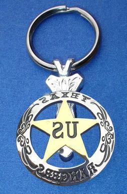 Western Cowboy Jewelry Texas Rangers Concho Key Ring Kit