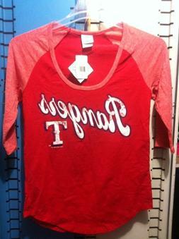 MAJESTIC Womens Texas Rangers Excellence Raglan 3/4 Sleeve T